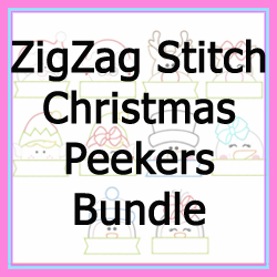 Christmas Peekers Zig Zag Bundle