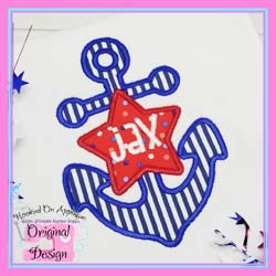 Anchor Star Applique