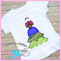 Anna Tree Dress PNG Printable