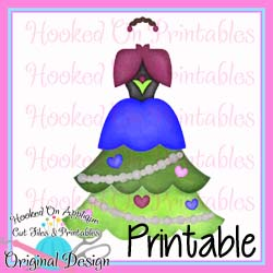 Anna Tree Dress PNG Printable