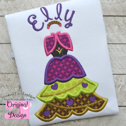 Anna Tree Dress Applique