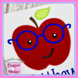 Apple Glasses Boy Zig Zag Applique