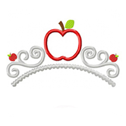 Apple Tiara Applique