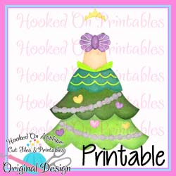 Mermaid Tree Dress PNG Printable