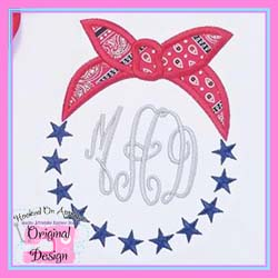 Bandanna Stars Circle Applique