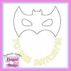 To The Batcave Vintage Stitch