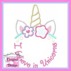 #HOA786 I believe in Unicorns Applique