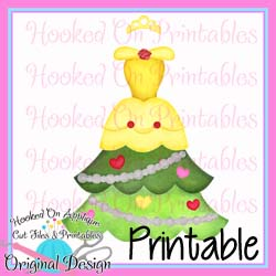 Belle Tree Dress PNG Printable