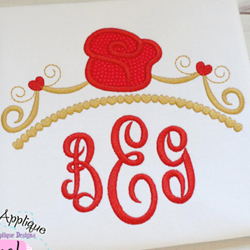 Rose Tiara Applique