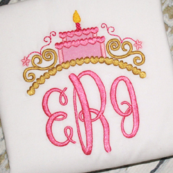 Birthday Tiara Applique