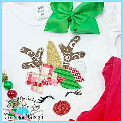 Bow Unicorn Reindeer Zig Zag Applique