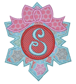 Bow Snowflake Applique