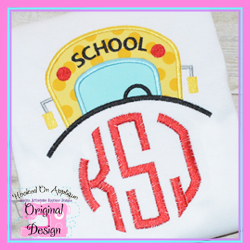 Boy Bus Topper Applique