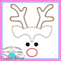 Reindeer Boy Zig Zag Applique