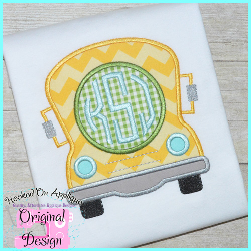 Boy Bus Applique Design