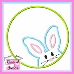 Bunny Boy Circle Applique