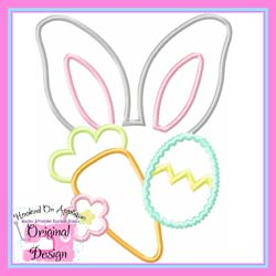Bunny Ears Girl Applique