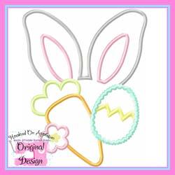 Bunny Ears Girl Applique