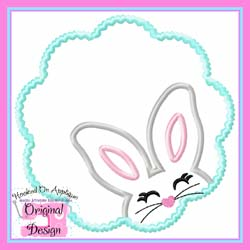 Bunny Girl Scallop Applique