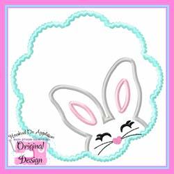 Bunny Girl Scallop Applique