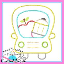 School Bus Apple Zig Zag