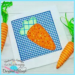 Carrot Box Blanket Applique