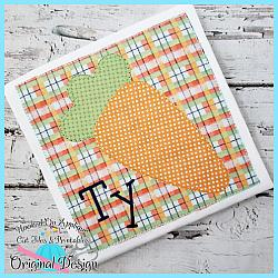 Carrot Box Blanket Applique