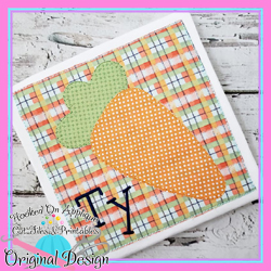 #HOA1018 Carrot Box Blanket Applique