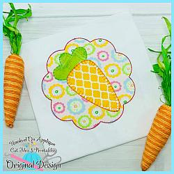 Carrot Scallop Applique
