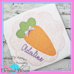 #HOA1017 Carrot Scallop Applique