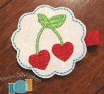 Heart Cherry Feltie