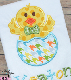 Boy Chick Egg Applique