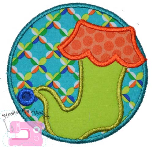Stocking Circle Applique