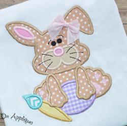 Cute Bunny 2 Applique