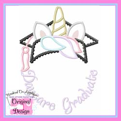 Daycare Unicorn Grad Applique