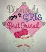 Diamonds are a Girls Best Friend Applique