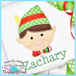 Elf Boy Zig Zag Applique