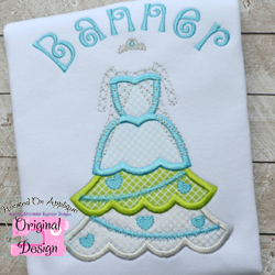 Frozen Queen Tree Dress Applique