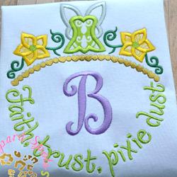 #HOA458 Faith, Trust, Pixie Dust Applique