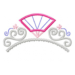 Fan Tiara Applique