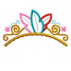 Feather Tiara Applique