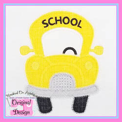 Funky School Bus Zig Zag Applique