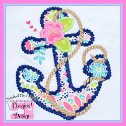 Floral Anchor Applique