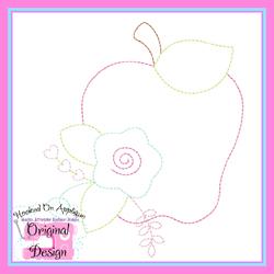 Floral Apple Vintage Stitch