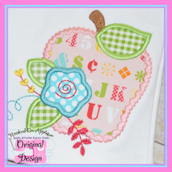 Floral Apple Applique