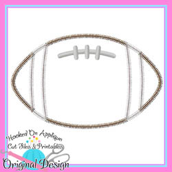 Football Applique Zig Zag