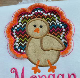 Fringe Turkey Applique