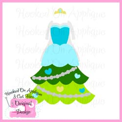 Frozen Queen Tree Dress CUT FILE
