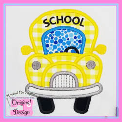 Funky School Bus Applique