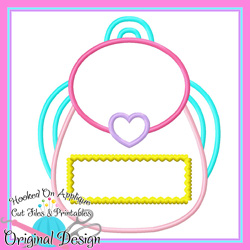 #HOA1090 Girl Backpack Applique